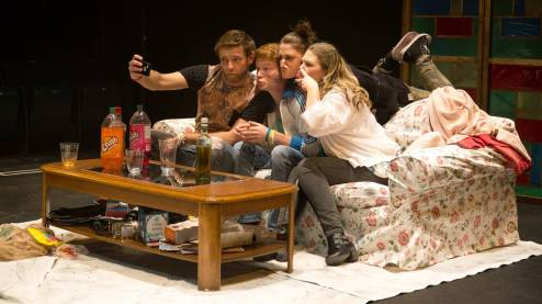 Dmitry Chepovetsky, Curtis Tweedie, Rachel Cairns, and Genevieve Fleming; Photo by Mark Halliday